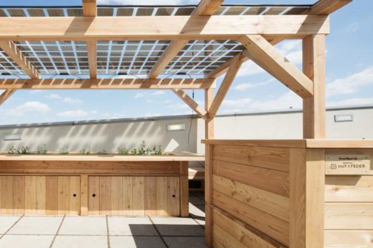NUT & FEDER gestaltet T-Mobile Dachgarten